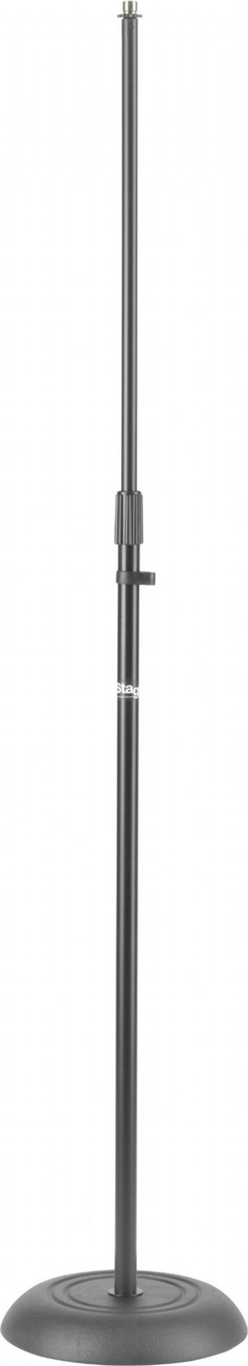 Microphone floor stand w/heavy solid round black base MIS-1120BK